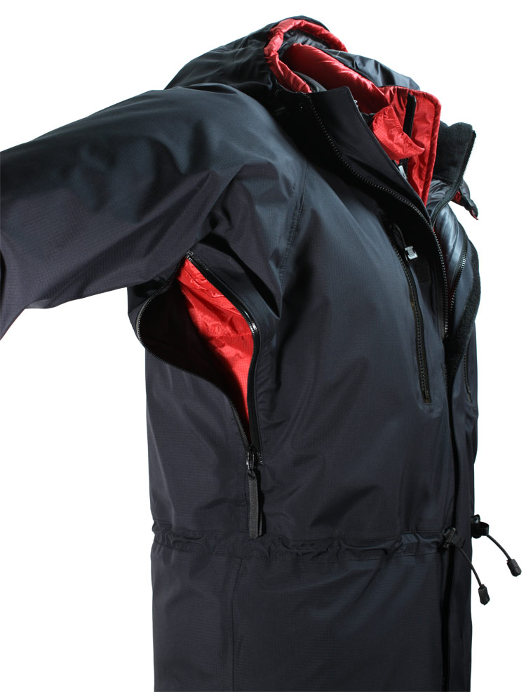 Alpamayo Waterproof Jacket - showing optional pit zips