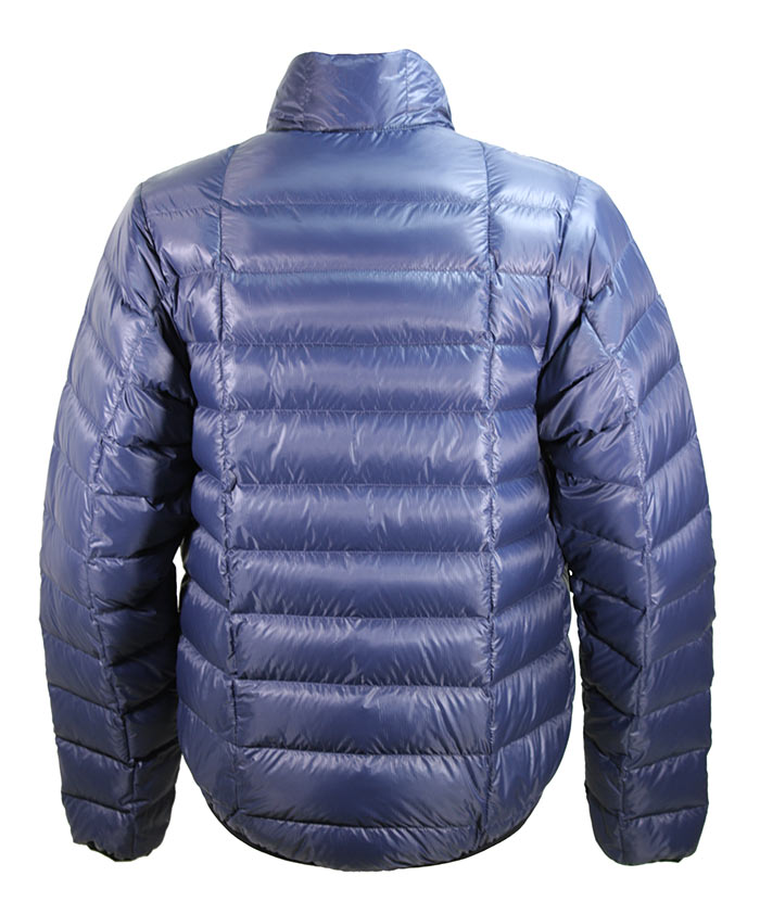 Wafer Down Jacket, rear view showing drop-tail