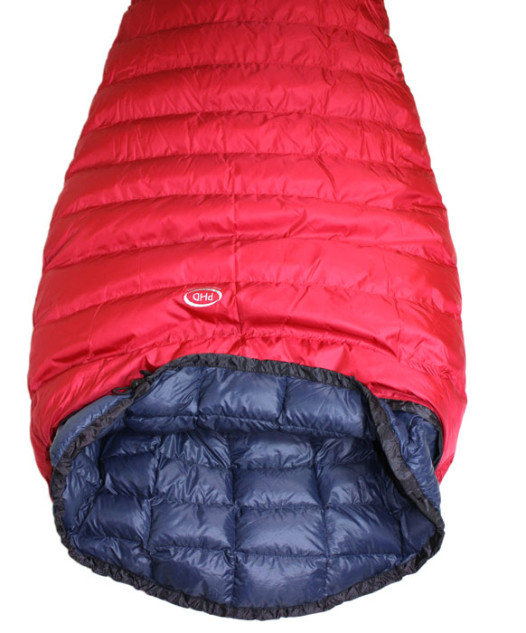 Filler Sleeping bag inside a Minimus bag (sold separately)