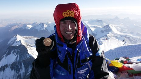 Kenton Cool Summits Everest in a PHD Xero Wind Suit