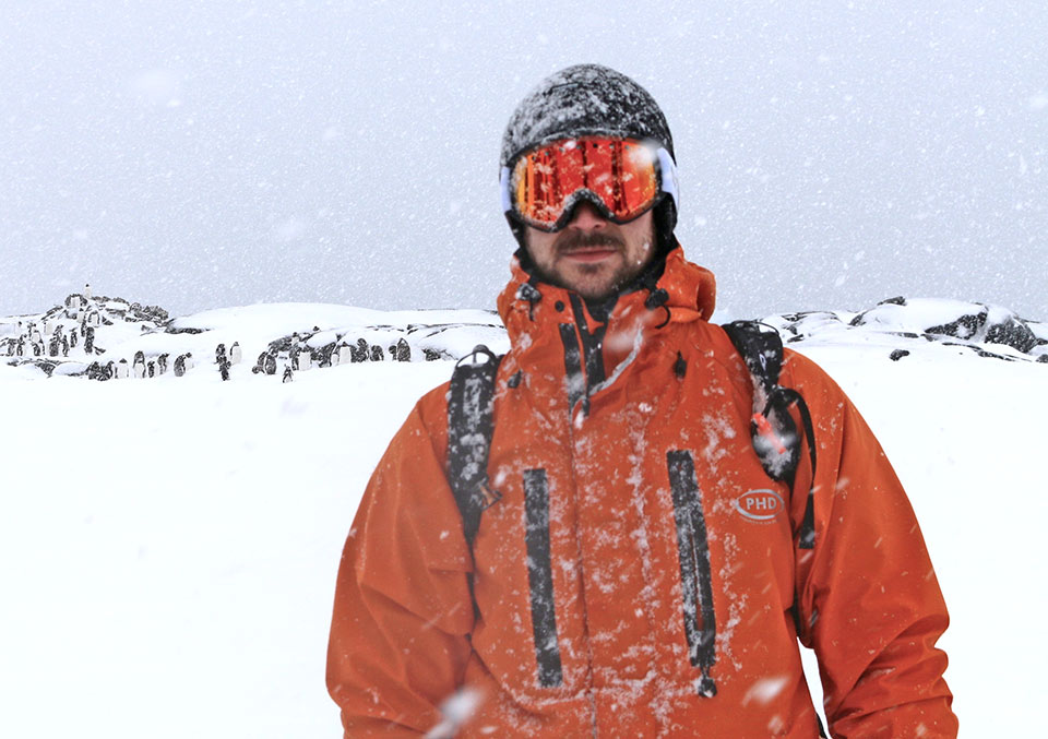 On expedition in Antarctica with Dr Nathan Smith.