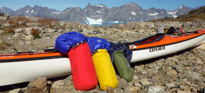 Combining sleeping bags / clothing in a Sleep System makes gear more stowable e.g. for kayak expeditions