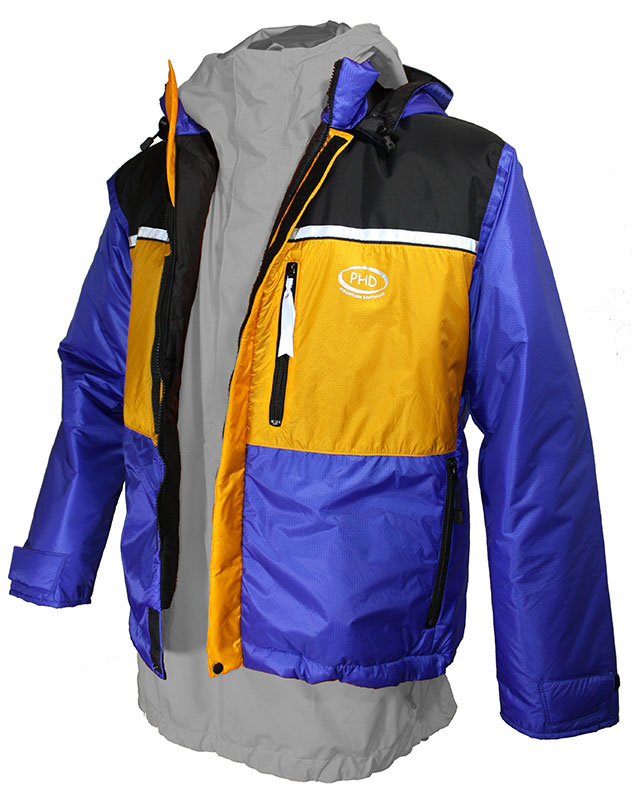 Zeta Jacket shown used over waterproof