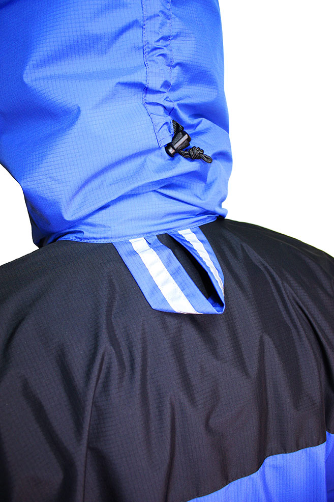 Zeta Belay Jacket showing rear clip loop