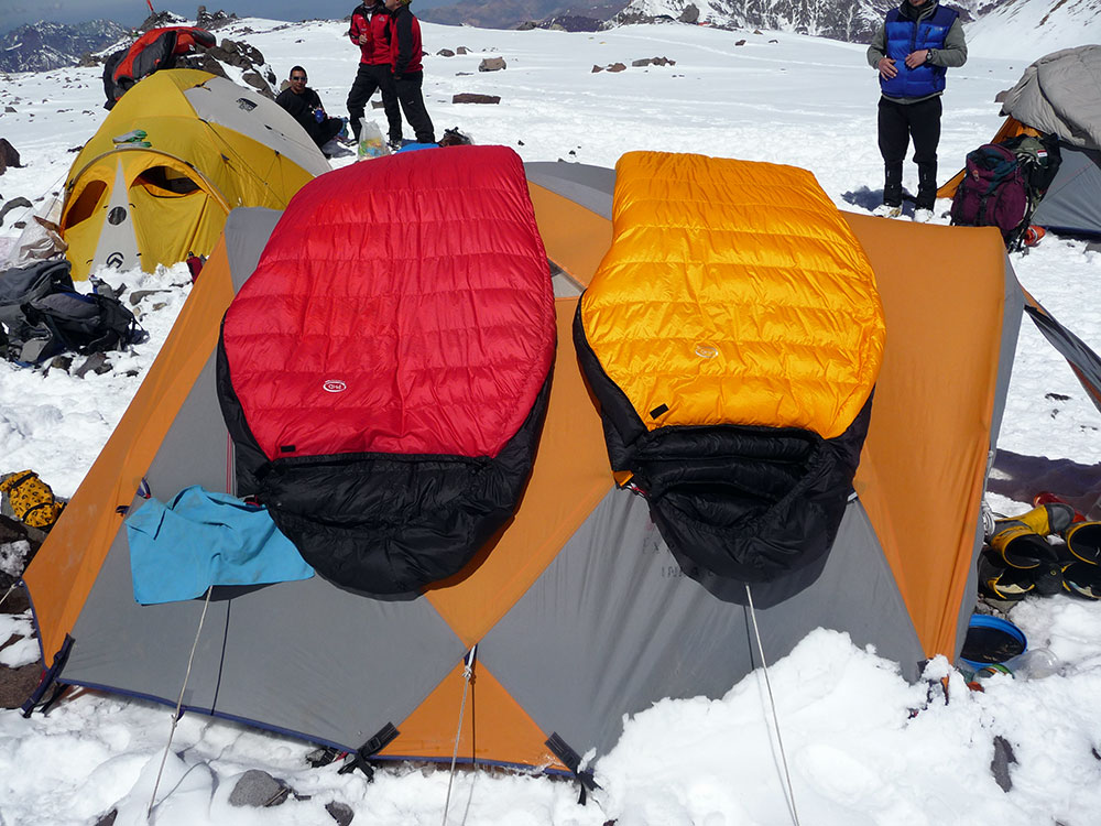 At camp 2 on Aconcagua with a Hispar 500.