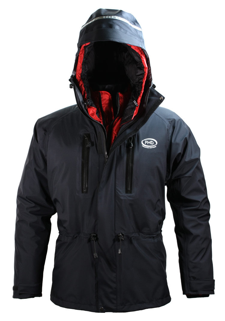 Alpamayo Waterproof Jacket - shown over a down jacket