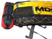 Race Stuff Sac shown attached to a WAA Ultra-Bag, one of the most popular MDS rucksacks.