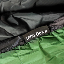 1000 fillpower down label.