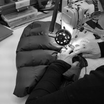 Being sewn by expert machinists in our Manchester (UK) factory