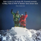 Rob Lucas, Everest summit, Xero 'K Series' Suit (with Dorje Gyalzen Sherpa). Photo: Kenton Cool.
