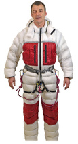 Inner suit of Expedition Double Down Suit. White to reduce solar gain.