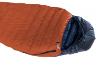 In Burnt Orange Ultrashell, showing short size-zip (full zip optional)