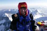 Xero Wind Suit on Everest Summit with Kenton Cool