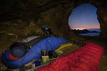 In Rolands Cave, Drakensberg Escarpment, South Africa. Photo: Alex Nail.
