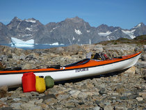 Using the Combi plus another Bag kayaking in Greenland. It's easier to stow two smaller bags.