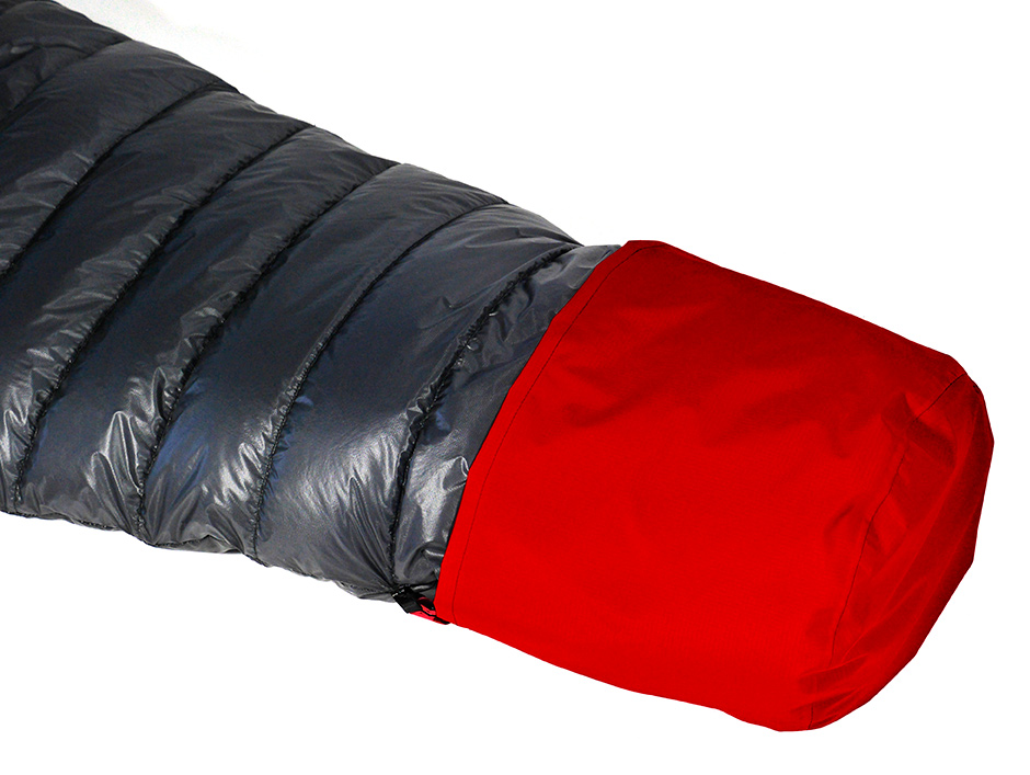 Minimus Degree 100 Down Sleeping bag with optional waterproof foot cover