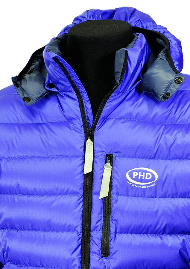 In blue Ultrashell Ultrashell fabric with optional hood