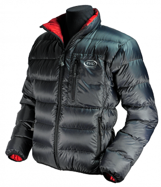 Minimus Down Jacket - black with red inner