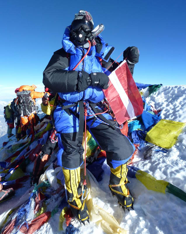 On Everest summit with Olga Kotova - first woman from a Baltic State to summit Everest.