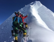 Rob Lucas, Everest, Xero 'K Series' Suit (with Dorje Gyalzen Sherpa). Photo: Kenton Cool.