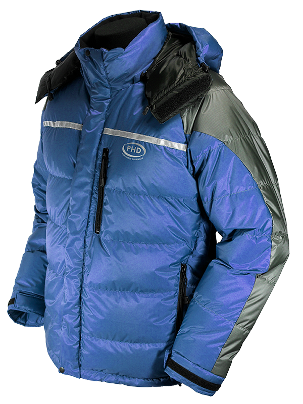 Rondoy Down Jacket - Steel blue and grey