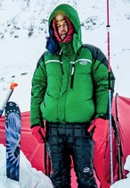 Marcus Baranow in a K Series Rondoy down jacket