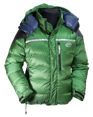 Rondoy Down Jacket: K Series - in green Ultrashell fabric
