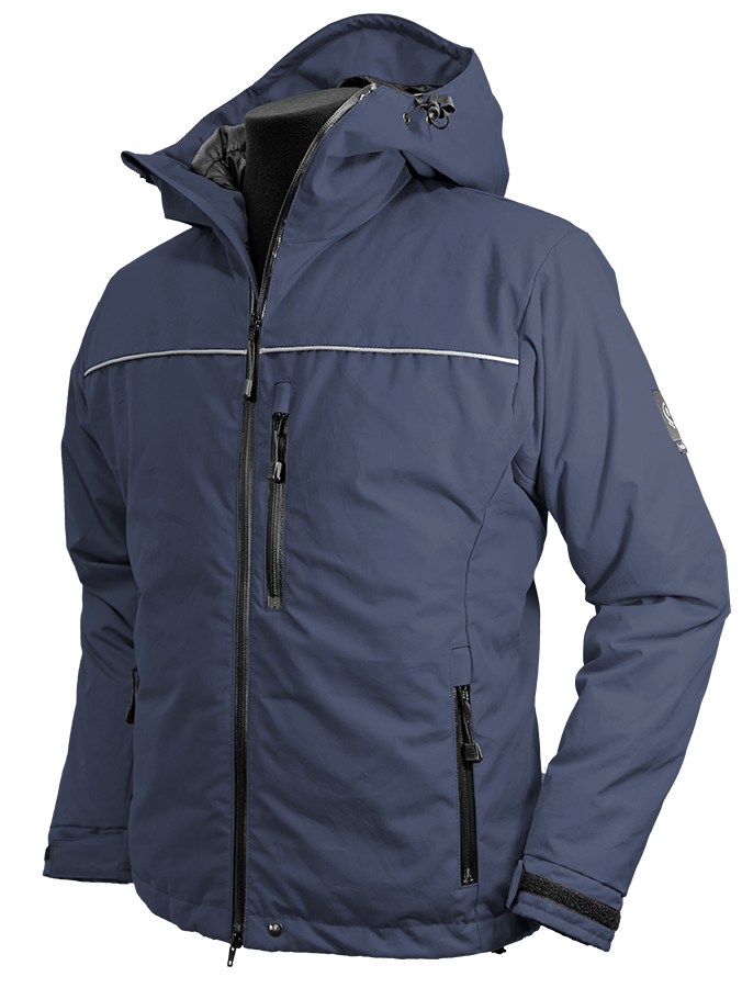Troms Ventile® Down Jacket in navy black