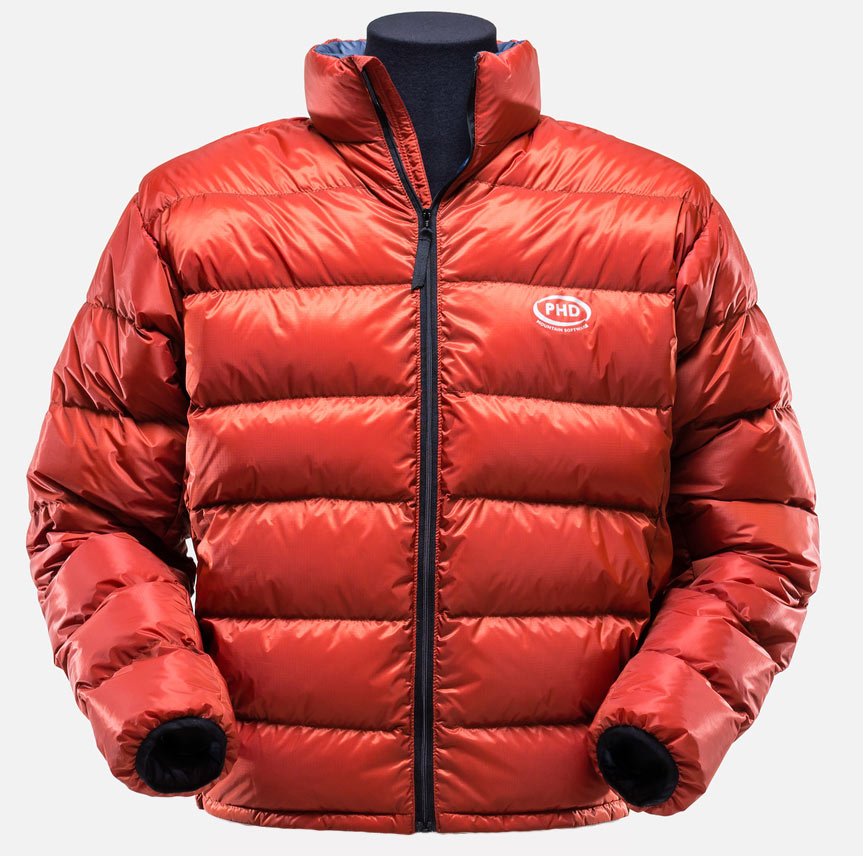 Ultra Down Jacket: K Series - Burnt Orange colour