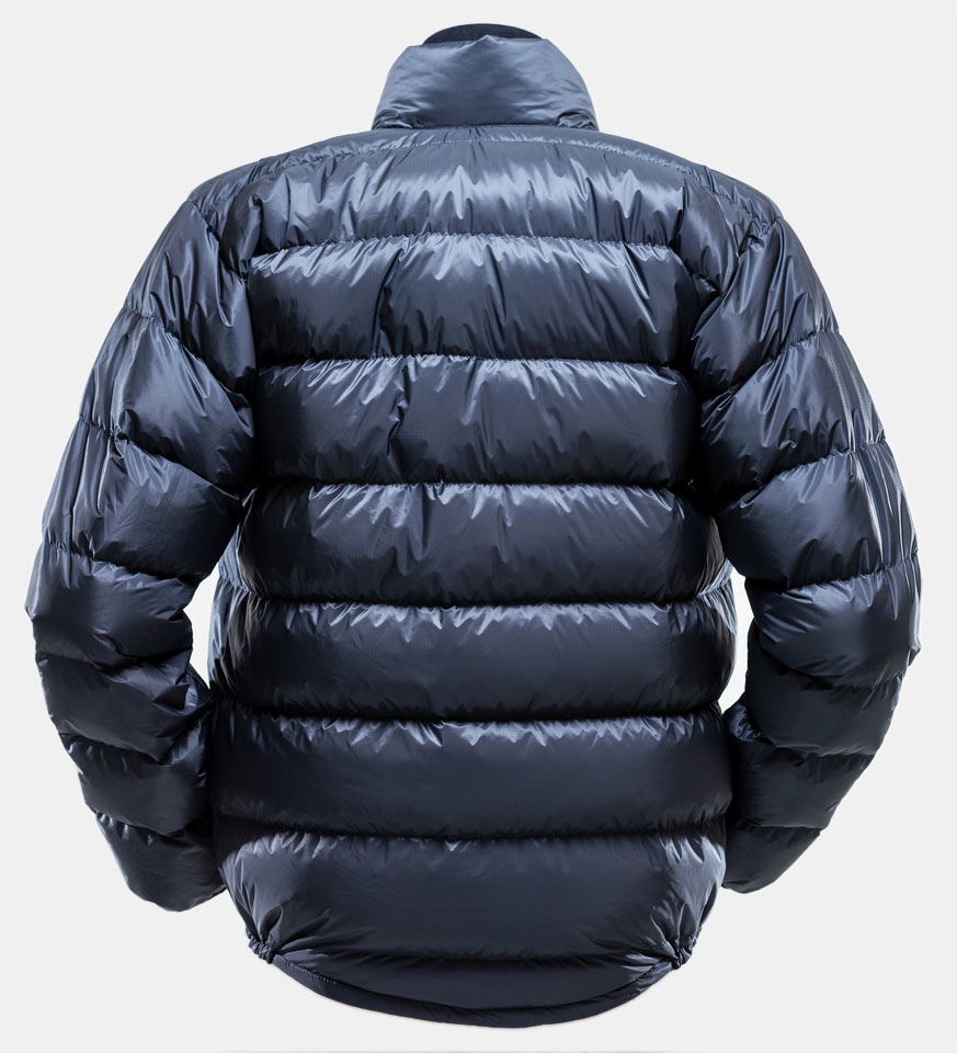 Ultra Down Jacket - rear view (Charcoal colour)
