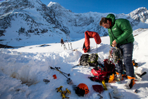 On expedition to Mt Deborah, Alaska with Jon Griffith and Will Sim.