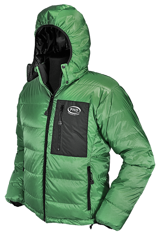 Yukon Down Jacket in green Ultrashell