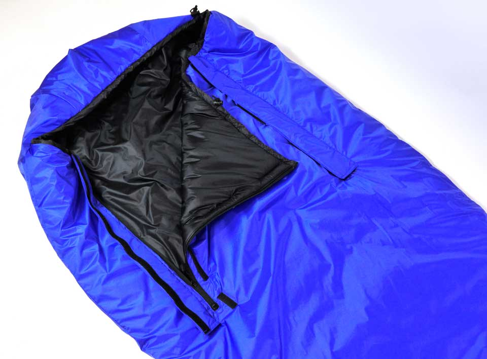 Zeta Synthetic Bivvy Sleeping Bag with twin front zips